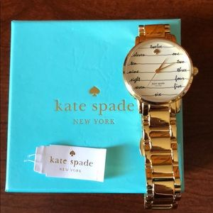 NWT Kate Spade Gold Chalkboard Watch $225